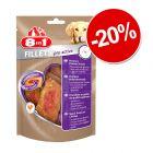 20% reducere! 80 g 8in1 Fillets Pro fileuri pentru câini