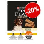20% reducere! 400 g PRO PLAN Biscuits Light