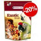 20% Reducere! 600g Versele-Laga Exotic Fruit Amestec fructe pentru papagali