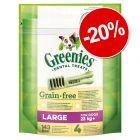 20% reducere! Greenies Grainfree snackuri dentare de ros