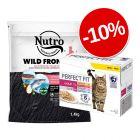 10% reducere! 1.4 kg Nutro hrană uscată + 12x85 g Perfect Fit Pachet mixt