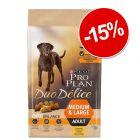 15% reducere! 10 kg PURINA PRO PLAN Délice Pui & orez sau Vită & orez