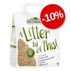 10% reducere! 8 l Greenwoods Nisip din fibre vegetale
