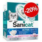 20% reducere! 6 l Sanicat Active Așternut pentru pisici