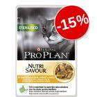 15% reducere! Purina Pro Plan pliculețe pisici, 24 x 85 g