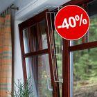 40% reducere! Trixie Grilaj de protecție pentru ferestre rabatabile
