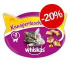 20% reducere! Whiskas Snackuri delicioase pentru pisici