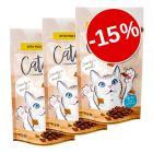 15% reducere! 3 x 65g Catessy Snackuri delicioase pentru pisici