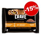 15% reducere! 24 x 85 g Crave Cat Pliculețe