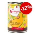 12% reducere! 12 x 410 g Feringa Pure Meat Menü Pachet Economic