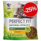 25% reducere! 2 x 650 g Perfect Fit hrană uscată pentru pisici