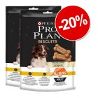 20% reducere! 2 x 400 g PRO PLAN Biscuits Light