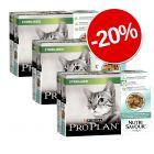20% reducere! 30 x 85 g Purina Pro Plan Nutrisavour Sterilised
