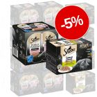5% reducere! 48 x 85g Sheba Varietăți Megapachet + 48 x 37,5g Perfect Portions Somon