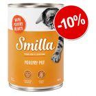 10% reducere! 6 x 400 g Smilla cu vită sau cu pasăre
