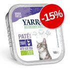 15% reducere! 12 x 100 g Yarrah Bio Bucățele în sos & Pate
