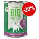 20% reducere! 6 x 400 g zooplus Bio hrană umedă bio pentru câini