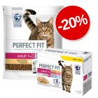 20% reducere! 5 x 1,4 kg Perfect Fit  + 48 x 85 g Mix