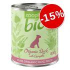 15% reducere! zooplus Bio - Rață (fără cereale) 6 x 400 g / 800 g