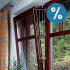 10% reducere!Trixie Grilaj de protecție pentru ferestre rabatabile