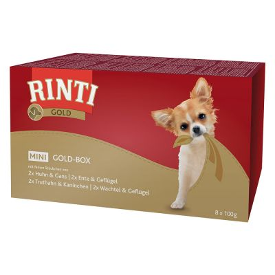 RINTI Gold Mini Schaaltje Multibox 8 x 100 g Hondenvoer