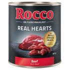 Rocco Real Hearts - Beef with whole Chicken Hearts 800g
