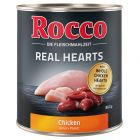 Rocco Real Hearts - Chicken with whole Chicken Hearts 800g