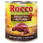 Rocco Autumn Menu -  Beef with Rabbit & Spiral Pasta