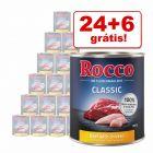 Rocco Classic comida húmida 30 x 800 g em promoção: 24 + 6 grátis!