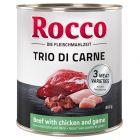 Rocco Classic Trio di Carne -säästöpakkaus 24 x 800 g