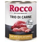 Rocco Classic Trio di Carne 6 x 800 g Alimento umido per cani