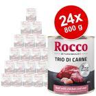 Rocco Classic Trio di Carne 24 x 800 g - Pack Ahorro