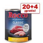 Rocco Classic 24 x 800 g comida húmeda en oferta: 20 + 4 ¡gratis!