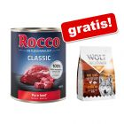 "Rocco Classic 6 x 800 g +  gratis Wolf of Wilderness ""Soft - Wide Acres"" - Pui, 350 g"