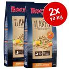Rocco Flakes pelyhesített komplett kutyaeledel gazdaságos csomag 2 x 10 kg