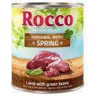 Rocco Frühlings-Menü Lamm mit grünen Bohnen