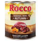 Rocco Menú de otoño: venado y calabaza