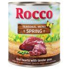 Rocco Menú de primavera: corazón de ternera con guisantes