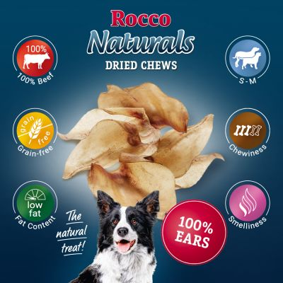 Rocco Natural Dried Cows' Ear