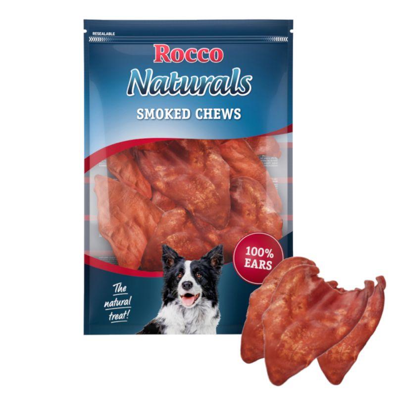 Rocco Naturals snacks de orejas de buey ahumadas para perros