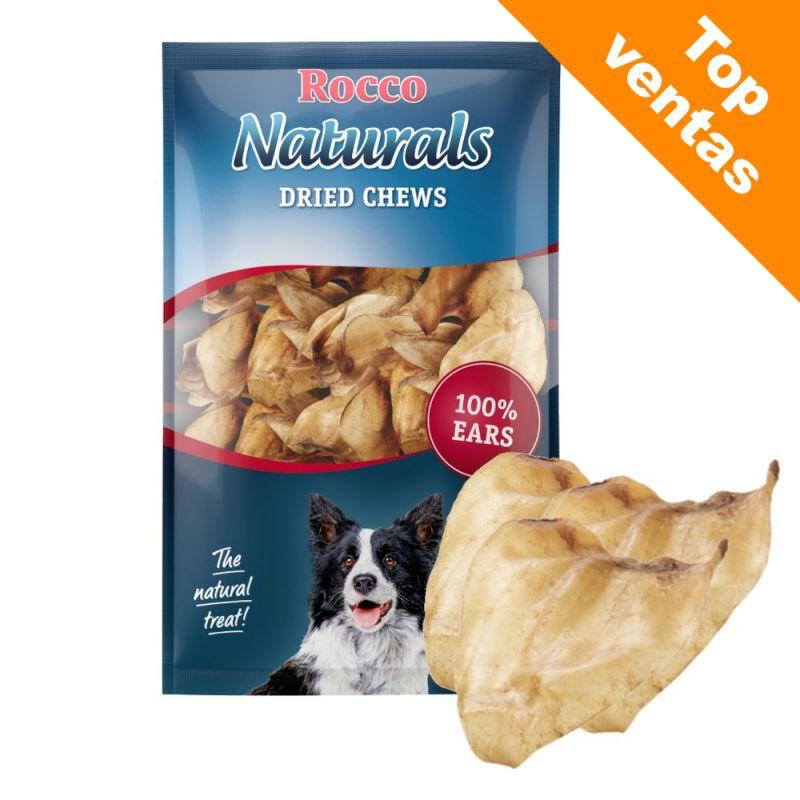 Rocco Naturals snacks de orejas de buey naturales para perros