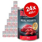 Икономична опаковка: Rocco Real Hearts 24 x 400 г
