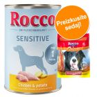 Rocco Sensitive 6 x 400 g / 800 g + Rocco Chings 250 g