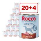 Rocco Sensitive 24 x 800 g: 20 + 4 kaupan päälle!