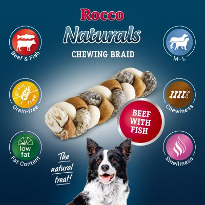 Rocco Smoked Rawhide Plaited Chews