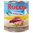 Rocco Vuelta al mundo España, pescado con arroz y guisantes