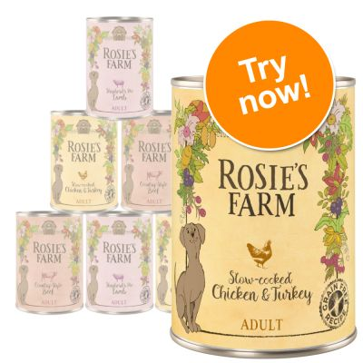 Rosie's Farm Adult Mixed Trial Pack - 6 x 400g
