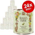 Икономична опаковка Rosie's Farm Adult 24 x 800 г
