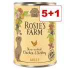Rosie's Farm Adult 6 x 400 g: 5 + 1 kaupan päälle!