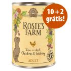 Rosie's Farm comida húmida 12 x 400 g em promoção: 10 + 2 grátis!